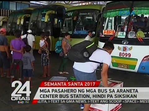 24 Oras: Mga pasahero ng mga bus sa Araneta Center Bus Port at Terminal, hindi pa siksikan
