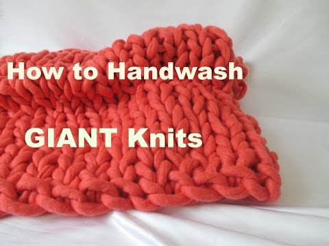 Majestic Knits: Washing Tutorial (for GIANT Knits)