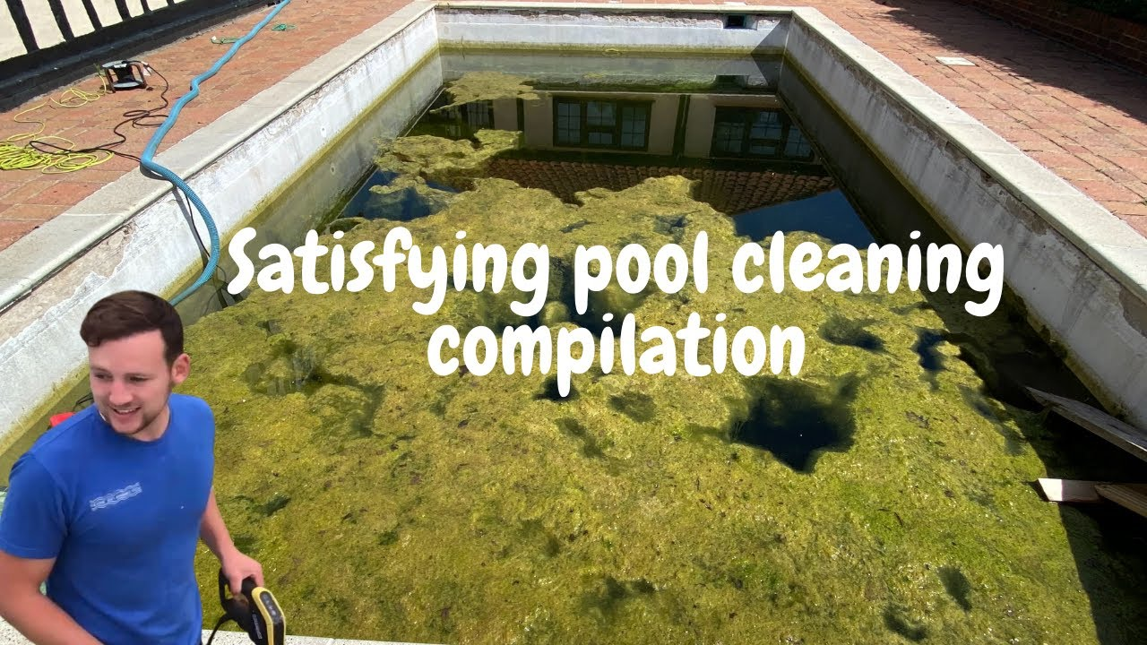 Pool cleaning compilation!!!