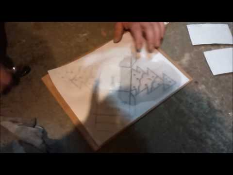 Transfering an image to linoleum for printing