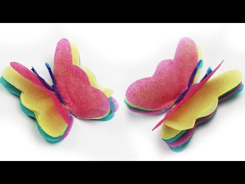 Tissue Paper Butterfly Craft How to Origami Butterfly - Origami of Butterfly - Origami Zone
