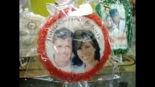 Photo Bake Shop Custom Wedding Cookie Favors Wphoto Bridal Anniversar