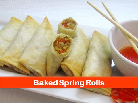 Baked spring rolls recipe/Easy healthy vegetable roll recipes/evening snacks ideas-letsbefoodie.com
