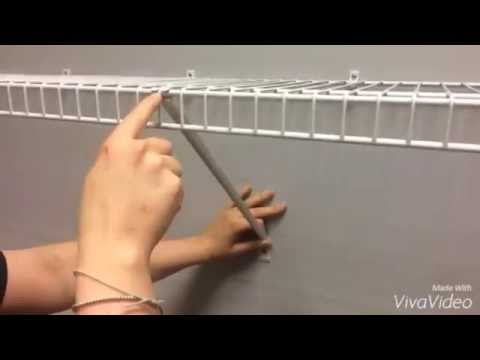 How To Correctly Install ClosetMaid Shelf Support Brackets