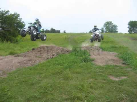 Homemade atv Track Jumping