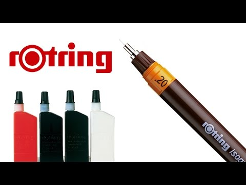 Isograph Rotring.How to fill isograph.Global Drawing Club