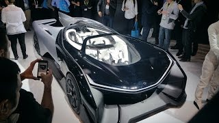 Insane 1000HP Electric Hyper Car: Faraday Future FFZero1 @ CES 2016