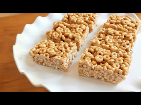 5 ingredient No Bake Peanut Butter Cheerio Bars | Back to School Recipe