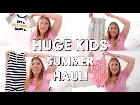 HUGE KIDS SUMMER CLOTHING HAUL! | NEXT, H&M, MATALAN, ZARA