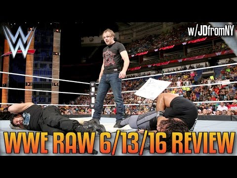 WWE Raw 6/13/16 Review: John Cena vs AJ Styles Contract Signing, Reigns & Rollins Ambrose Asylum
