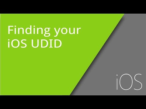 Finding your iOS UDID