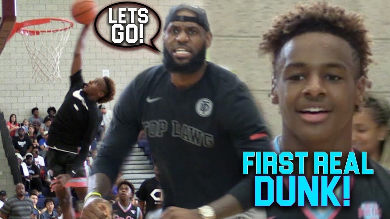 BRONNY James Jr FIRST EVER DUNK IN CHAMPIONSHIP GAME!!! He's ONLY 13!!