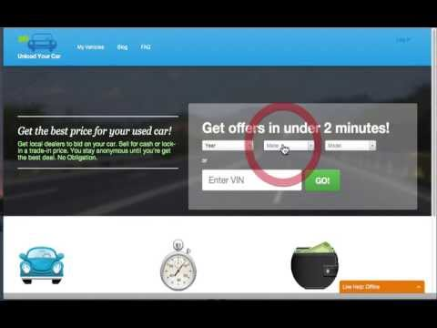 Get the Best Price for Your Car Trade In - Unload Your Car Demo 1