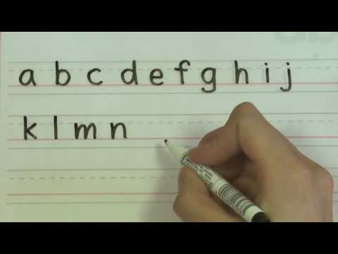 Write the Alphabet - English Handwriting for Kids