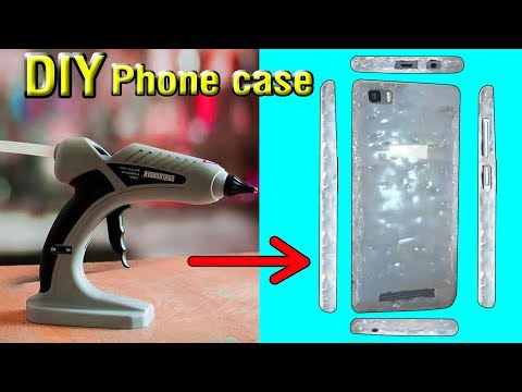 Home made phone back-Case | how to make a phone Case | glue gun Life Hack | Stupid Engineer