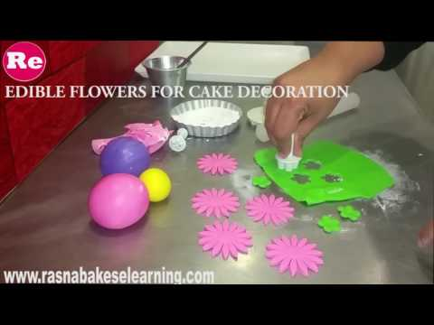 how to make Edible Flowers for Cake Decoration