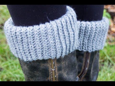 Slip Stitch Boot Cuffs (SUPER EASY)