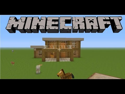 Minecraft Tutorial: How To Build Easy Survival House (XboxOne)
