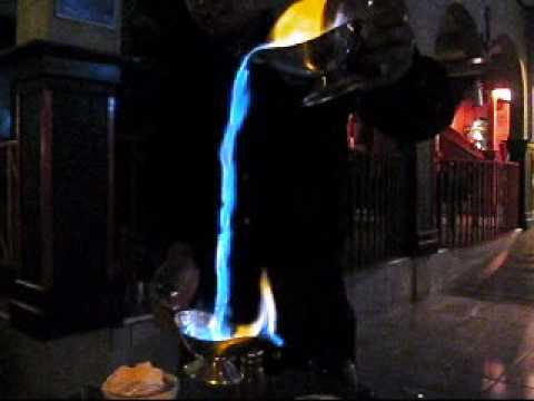Flaming Waterfall of Mexican Coffee in Rocky Point, Mexico