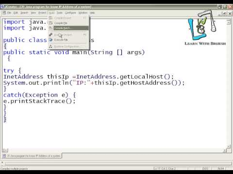 26 Java program for know IP Address of a system