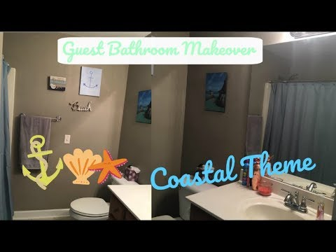 Decorate With Me | Bathroom Makeover | Coastal Theme