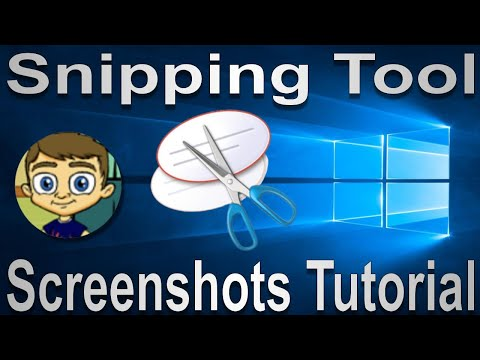 The Snipping Tool 2017 Tutorial Windows Screenshots