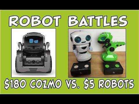 Cozmo the Robot | Robot Battles $180 Anki Cozmo Robot vs. $5 Robots | Episode #82