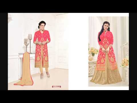 Buy Bangalore Silk Semistitched Salwar Suit 8 Pcs Set at Wholesale Price