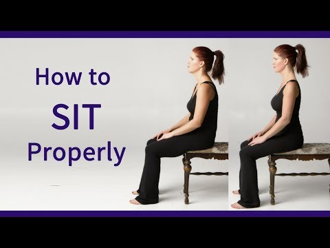 Posture Coach Shows How to Sit Properly