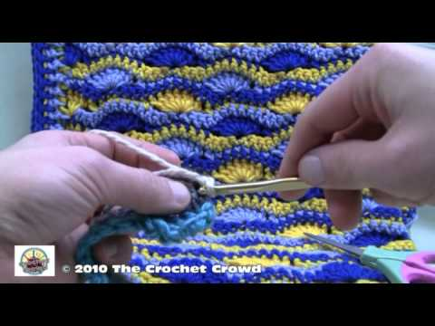 How To Crochet Wavy Shell Stitch Afghan Part 2