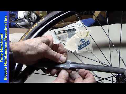 How to use a glueless bike patch to STICK to fix a flat tire