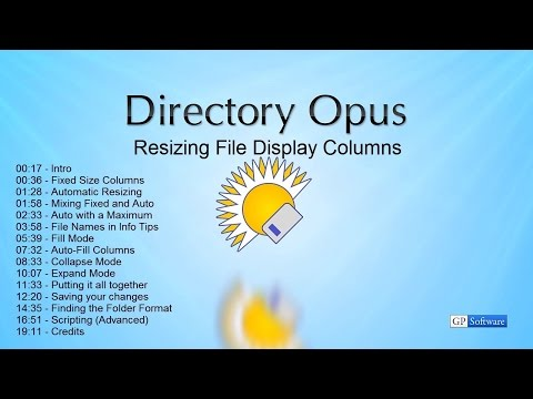 Directory Opus 12: Resizing File Display Columns, and Folder Formats.