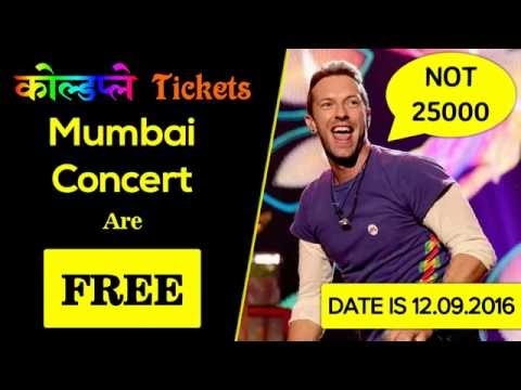 How to get FREE Coldplay Mumbai Concert Tickets