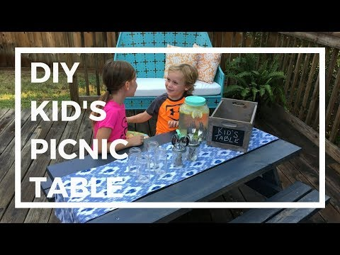 How to Build an Easy Kid's Picnic Table | $20 Lumber