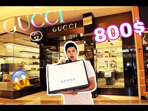 SPENDING $800 AT THE GUCCI STORE !