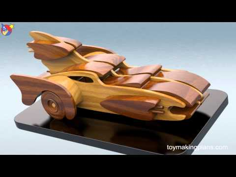 Wood Toy Plans - Build a Bat Car