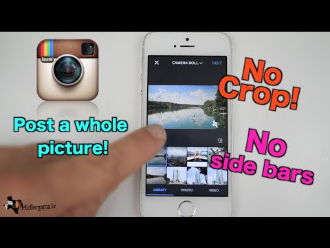 Instagram: Post a whole photo without cropping! New Feature!