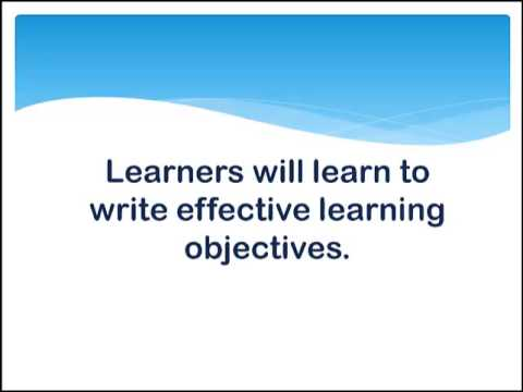 Writing SMART Learning Objectives