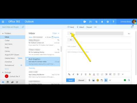 Creating a Contact or Contact List in Outlook OWA