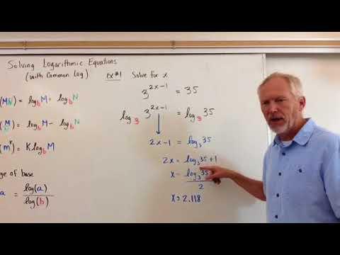 Solving Exponential Equations (Same Log Base Method)