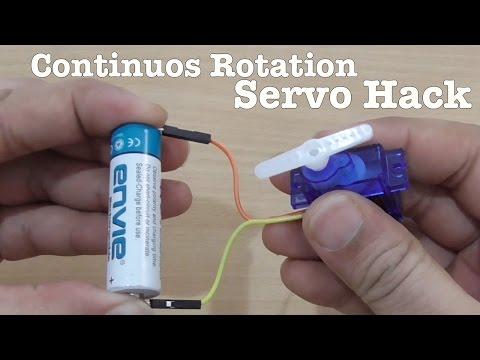 How to modify a SERVO for Continuos Rotation - DIY Hack