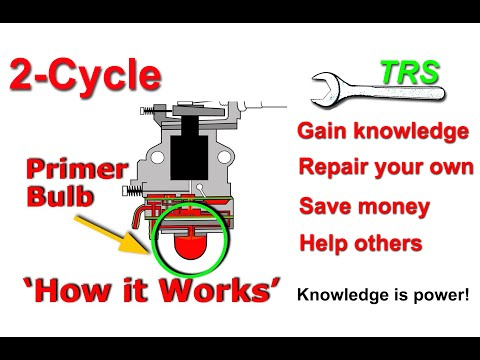 Primer Bulb, HOW IT WORKS, on a Two Stroke Cycle Carburetor