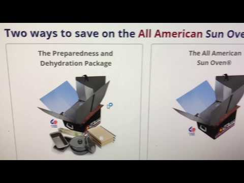 All American sun oven unboxing