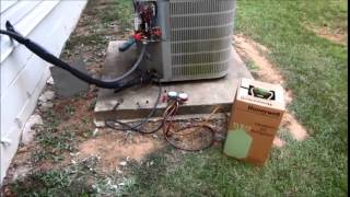 Hvac Fix Air Conditioner Bad Capacitor And Low Charge