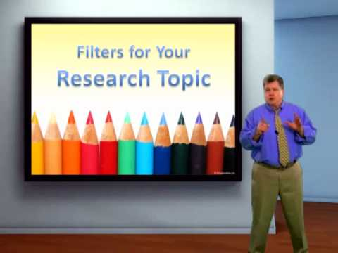 Choosing and Narrowing Research Topics for APA & MLA Essays