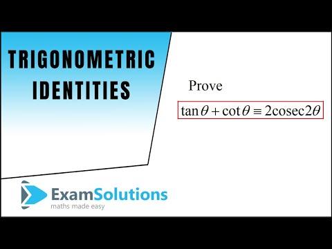 Trigonometry Identities - Double Angle (2) : ExamSolutions