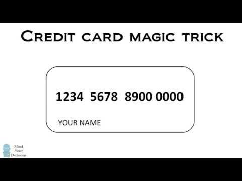 A Secret Code in Credit Card Numbers