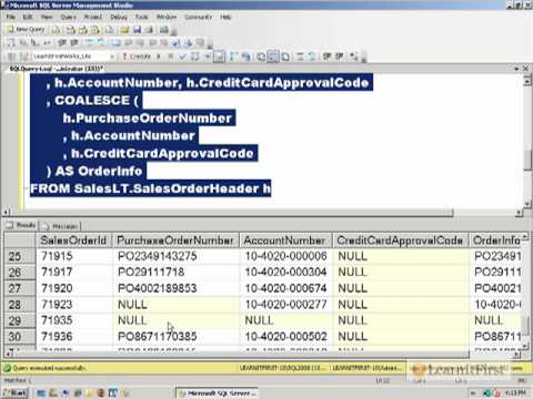 Introduction to NULLIF, ISNULL, and COALESCE in SQL Server 2005/2008