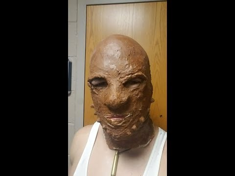 How to make a Liquid Latex Mask   Star Wars Weequay Alien Mask