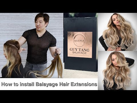 How to install Balayage Hair Extensions